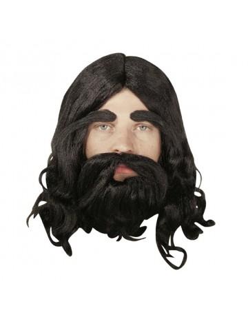 Περούκα με μούσι και μουστάκι