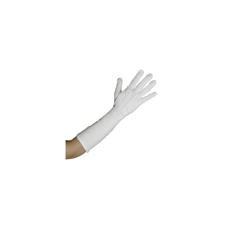Γάντια υφασμάτινα μακριά άσπρα