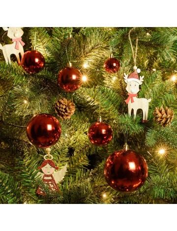 Χριστουγεννιάτικη Μπάλα Κόκκινη 10εκ.