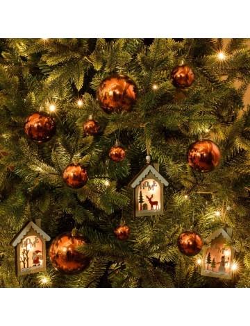 Χριστουγεννιάτικη Μπάλα Χάλκινη-Μπρονζέ 8εκ.