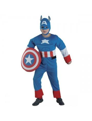 Στολή US Captain παιδική με ασπίδα