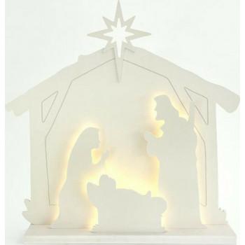 Ξύλινες Χριστουγεννιάτικες Φάτνες
